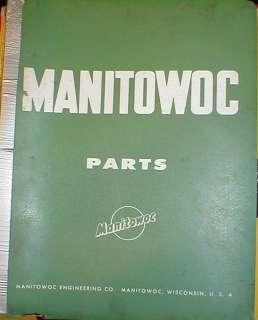 Manitowoc 2000 Crane Parts Catalog Manual Book