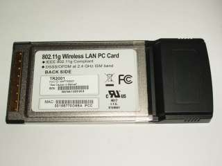 WIFI WIRELESS PCMCIA CARD NEW A/B/G 2.4Ghz 802.11g CAMEO TR2001 DELL