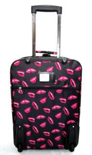 3Pc Luggage Set Travel Bag Rolling Case Wheel Pink Lips