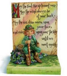 2009 JIM SHORE LEPRECHAUN W/POT OF GOLD IRISH BLESSING