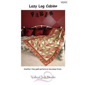 Lazy Log Cabin Quilt KIt Great For BEGINNERS!