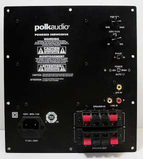 Polk Audio PSW111 150 W Subwoofer Back Plate Amplifier