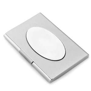 Tone Business Card Holder with Oval Engraving Plate