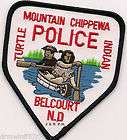 mountain chippewa indian belcourt north dakota shoulder police patch