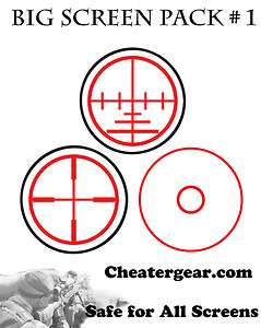 Screen Pack 1, TV Screen Safe Aiming Targets, FPS Aim Assist
