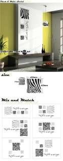 Set of 5 Zebra Stripe Pattern Vinyl Wall Art Sticker Decal Fashion