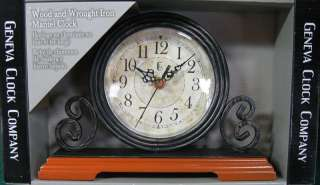 Infinity Instruments The Laurel Wrought Iron Wall Clock